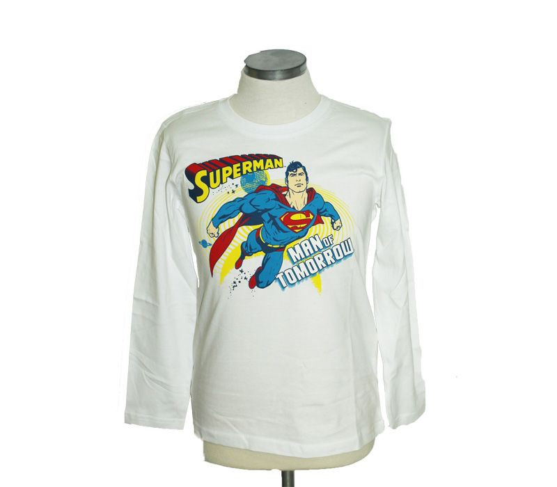 Superman apparel long sleeve blouse