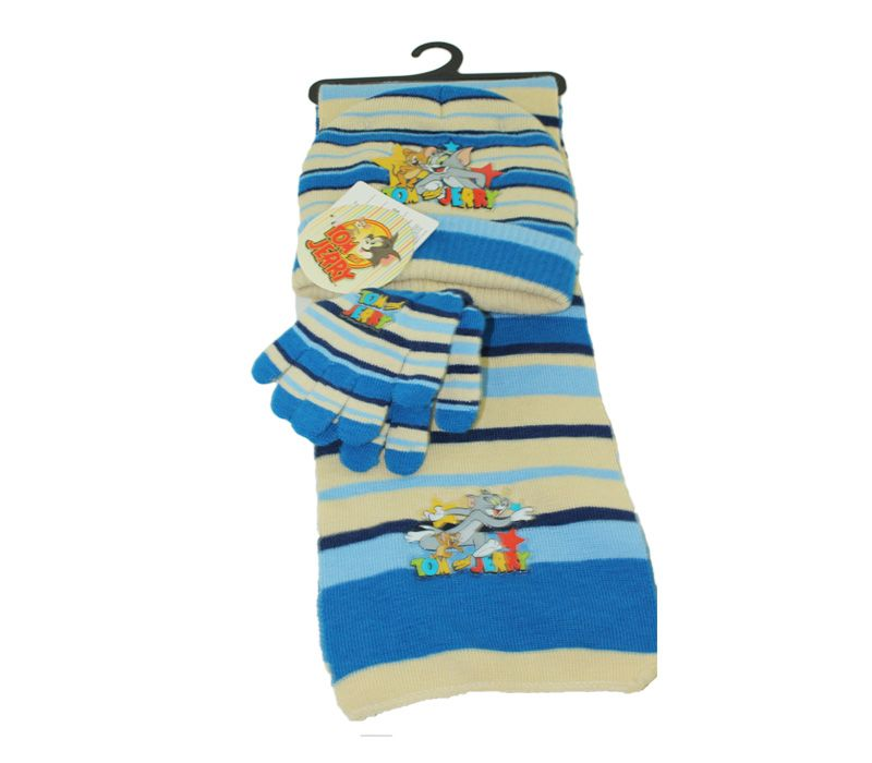 Tom and Jerry accessories set of scarf & gloves