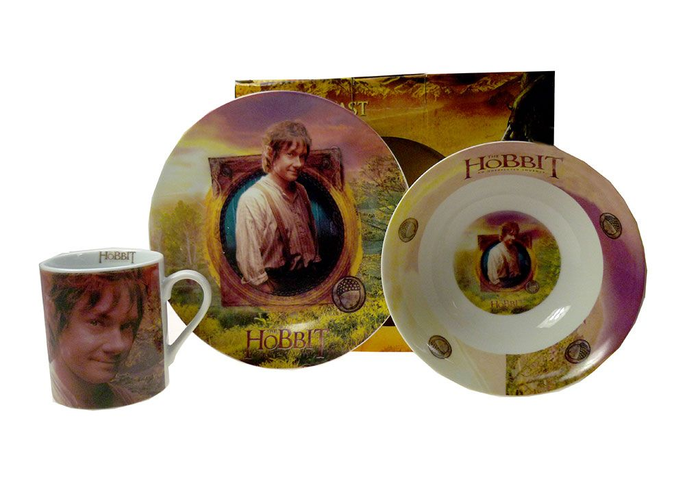 Hobbit gifiting set bowl mug plate Greece