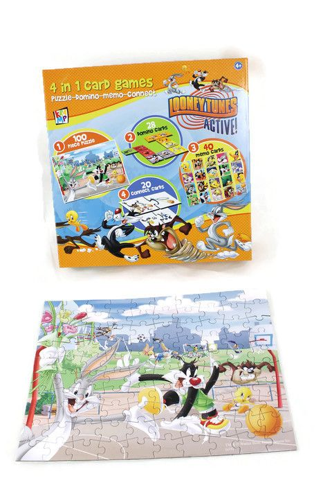 Looney Tunes Toys and Games 4 in 1 card games Greece
