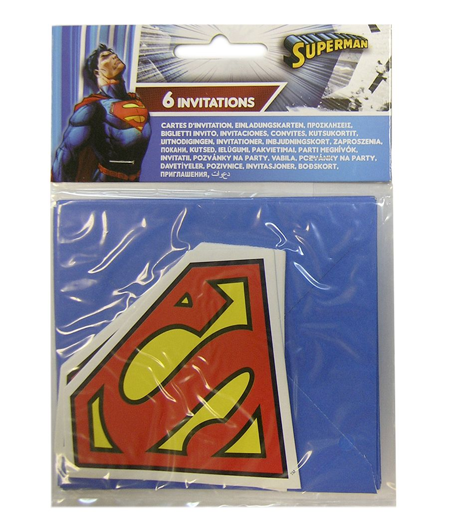 Superman party goods invitations Greece
