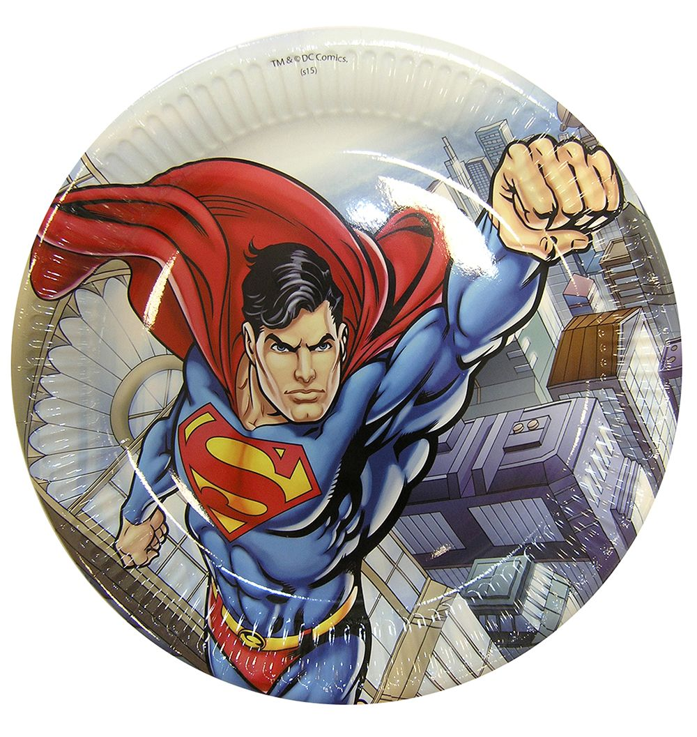 Superman party goods paper plate Greece