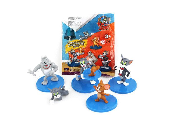 Tom and Jerry food and promotions figurines Greece