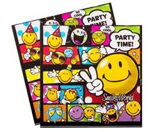 Smiley party goods paper napkins