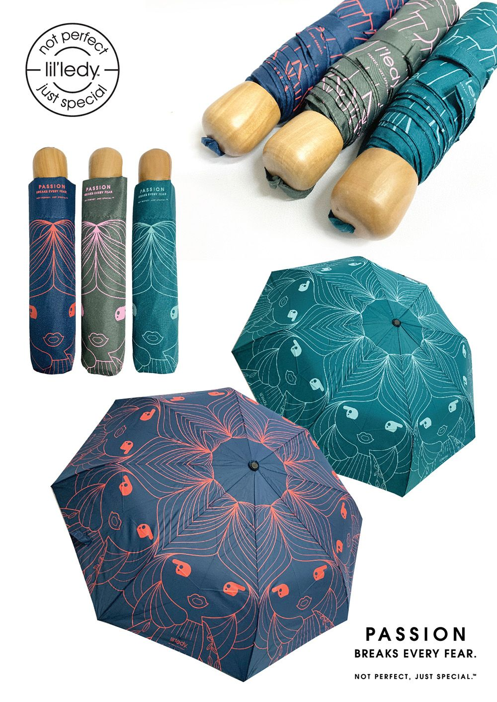 Lil'ledy accessories umbrellas