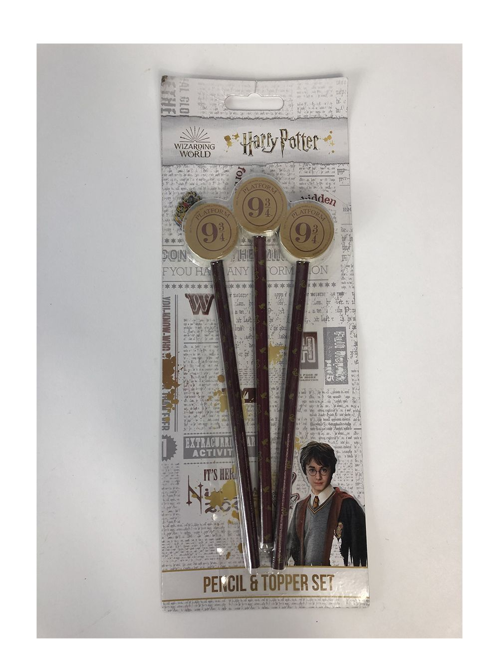 Harry Potter Stationery pencil and topper set